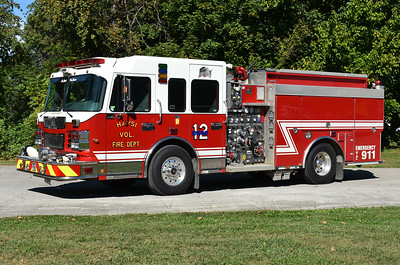 Photographed in September of 2017 in Winchester, Virginia the day before being delivered to Haysi, Virginia in Dickenson County.  Engine 12 is a 2007 Smeal Sirius 1500/750/20 with s/n 703050.  It was originally delivered to Aldie, Virginia in Loudoun County.