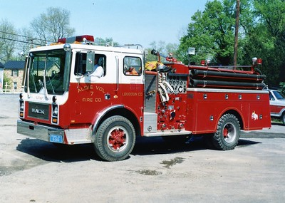 Former Engine 7, a 1981 Mack MC, 750/750.   Sold to Cleveland, Oklahoma, in 2005.