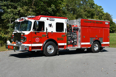 Photographed shortly after being placed into service in Philomont, Virginia (Loudoun County) is Engine 608, a 2017 Smeal Sirius with a 1500/750/20A.  Serial number 714080.