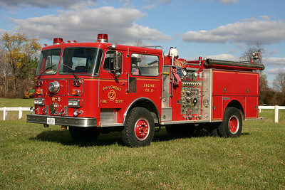 Old Engine 8 from Philomont was designed to be versatile during inclement weather.  It is a 1987 FWD/Seagrave equipped with a 1250/750.  Engine 8 was sold in 2009 to the West Hickory Township, PA fire department.