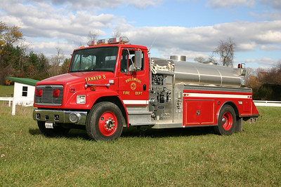 Philomont is a community without a great number of hydrants, so the department's apparatus roster has a variety of trucks to bring the water to the emergency, including two tankers.  Tanker 608 is a 1996 Freightliner/Semo equipped with a 750/1850.  May, 2015 - sold to the Gore VFD in Frederick County, Virginia.