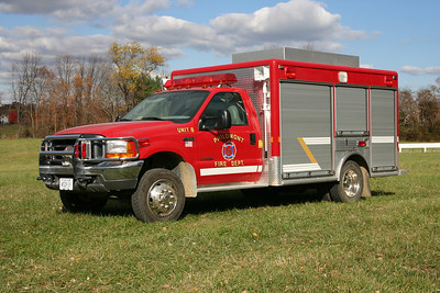 Unit 608 (now Light and Air 608) is Philomont's equipment truck that carries a variety of tools and equipment including a light tower, air cascade, extrication tools, etc.  It is a 1999 Ford F550 that was built by nearby LSI  (located in Purcellville) with a 10' box.  Purchased by the Purcellville Rescue Squad in 2017.