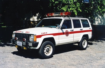 Former Car 8 from Philomont, a 1987 Jeep Cherokee.  ex - Fair Oaks VFD (Fairfax County, Virginia).  To Philomont in 2002.