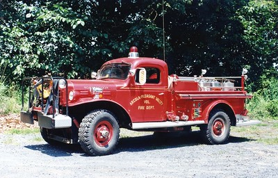 Arcola's Brush 9, a 1947 Dodge Power Wagon/Young, 250/250.  Rehabbed in 1969.  Still owned by Arcola as an antique.