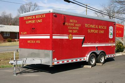 Technical Support Unit 609 trailer - 2008 Wells Cargo 18' trailer.