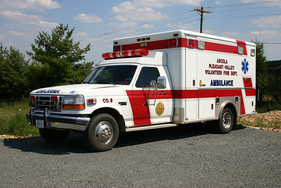 Older ambulance from Arcola - 1993 Ford F350/Horton.