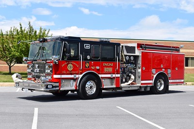 Engine 609B with updated lettering on the front and back, a 2016 Seagrave TB60CS, 1750/750/20/20, sn- 78H98.