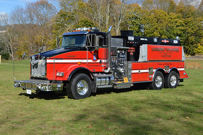 Lineboro Tanker 7 is a 2014 Kenworth T-800 built by US Tanker and equipped with a 1500/3000.  Lineboro took delivery of this tanker in 2016 and purchased it from Arcola, Virginia in Loudoun County.  Lineboro placed the tanker in service in November of 2016.