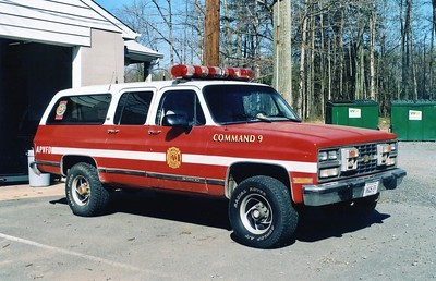 Former Command 9, a 1990 Chevy Suburban.