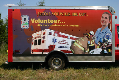 Graphics promoting the EMS side of being a volunteer.