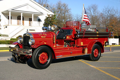 Still owned by Leesburg is this beautiful 1929 Seagrave 500/125.  This was the first custom built fire truck in Loudoun County.  It has been completely restored.