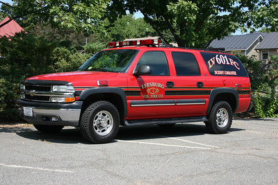 Former Command 601 was this 2002 Chevrolet Suburban that was outfitted by FastLane.  The black stripes were added later.  Photographed in the parking lot of Fire Station 1.  Unfortunately, this truck was totaled in an accident in 2011.