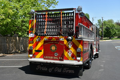 Engine 601 from Leesburg in Loudoun County is a 2019 Pierce Enforcer equipped with a 1500/750/60 and Pierce job number 32411.