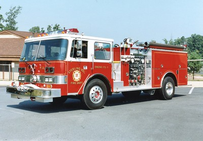 Another similar 1984 Pierce Arrow operated as Engine 11, equipped with a 1500/750.