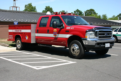 This is SERV 611 prior to the brush skid package that was added.  SERV 611 (Special Emergency Response Vehicle) is a 2002 Ford F550 with a Knapheide body.  It originally ran as SERV 618 before becoming SERV 611.  Eventually, in 2008, this truck had a brush package added for additional versatility.