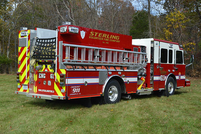 A rear view of Engine 611, a 2014 Spartan Gladiator/Smeal 1500/750/20.  Engine 624 received an identical engine.