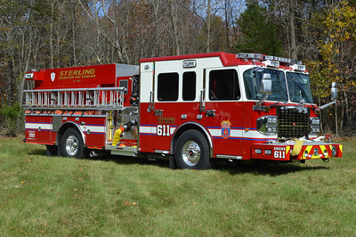 The officer side of Engine 611, a 2014 Spartan Gladiator/Smeal 1500/750/20.