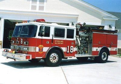 Former Engine 18, a 1984 Pierce Arrow/1992 Pierce, 1250/750.