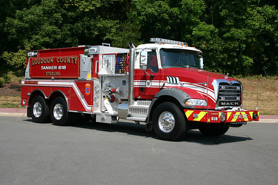 The officer side of Tanker 618 as photographed in July of 2012.  Transferred to Fire Station 3 in Middleburg in 2015.
