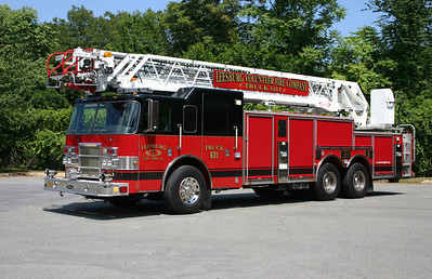 Truck 601 was purchased in 2011.  It runs as Leesburg's reserve truck to back up the Seagrave tiller, which changed its radio designation to Truck 620.  The Pierce ladder truck is a 2002 Pierce Dash equipped with a 105' rear mount ladder.    This ladder truck was originally a Pierce demonstrator ladder truck, later to be purchased by Ormond Beach, Florida.  Leesburg purchased it from Brindlee Mountain, a used fire truck broker.  Brindlee Mountain had the truck painted for Leesburg black over red and did other work prior to Leesburg receiving the ladder truck in July of 2011.