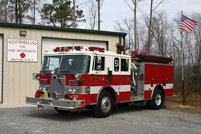 Leesburg's old 1988 Pierce Lance now runs as Engine 51 for the Westmoreland VFD Mt. Holly, Virginia substation.