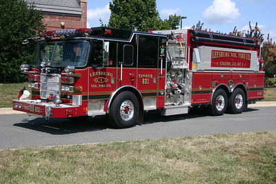 Tanker 601, a 2009 Pierce Arrow XT  2000/2500/50/150.  Foam primarily for coverage at Leesburg Airport.  This photograph appeared in the November/December 2009 edition of Fire Apparatus Journal.