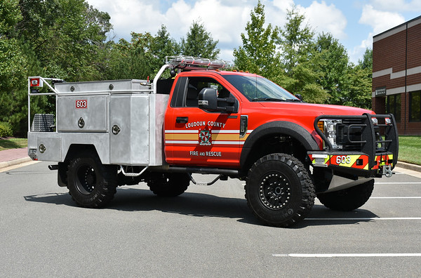"""An officer side view of Brush 603.  This Ford has a 6"""" lift kit."""
