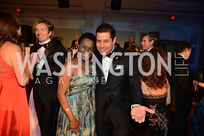 Ambassador Jacinth Henry-Martin of St. Kitts & Nevis dances with Ambassador Neil Parsan of Trinidad and Tobago. MS Ambassadors Ball, September 10, 2014, Photo by Neshan H. Naltchayan