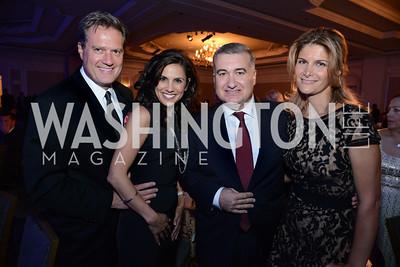 Rep. Michael Turner (OH), Majida Mourad, Azerbaijan's Ambassador, Elin Suleymanov and his wife, Lala Abdurahimova. MS Ambassadors Ball, September 10, 2014, Photo by Neshan H. Naltchayan