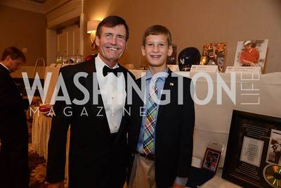 Thomas Kuhn,President of the Edison Electric Institute and his son, Chandler.  MS Ambassadors Ball, September 10, 2014, Photo by Neshan H. Naltchayan