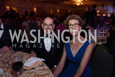 Representative Henry A. Waxman and Annie Broullire. MS Ambassadors Ball, September 10, 2014, Photo by Neshan H. Naltchayan