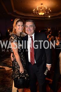 Azerbaijan's Ambassador, Elin Suleymanov and his wife, Lala Abdurahimova. MS Ambassadors Ball, September 10, 2014, Photo by Neshan H. Naltchayan