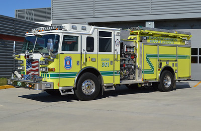 Reagan's Engine 301 is a 2009 Pierce Arrow XT, 1500/720/40, sn-21393-01.  A twin to this unit runs as Engine 303 at Dulles.