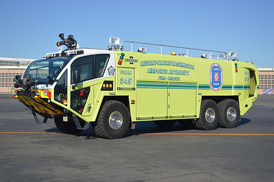 The newest crash truck at Reagan is this 2013 Oshkosh Global Striker 3000 6x6, 2000/3000/420/500lbs of dry chem, sn-763103.