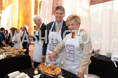 Senator Joe Manchin (D-W.Va.) and Gayle Manchin. March of Dimes Gourmet Gala, National Building Museum. May 7, 2014 Photo by Neshan H. Naltchayan