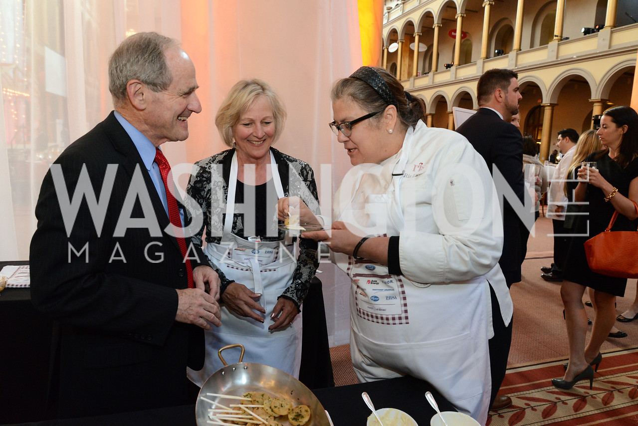 Senator James Risch (R-ID), Vicki Risch and Chef Ris Lacoste. March of Dimes Gourmet Gala, National Building Museum. May 7, 2014 Photo by Neshan H. Naltchayan