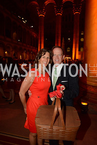 Kris Toomey and Senator Pat Toomey (R-PA) with their Longaberger Market basket. March of Dimes Gourmet Gala, National Building Museum. May 7, 2014 Photo by Neshan H. Naltchayan
