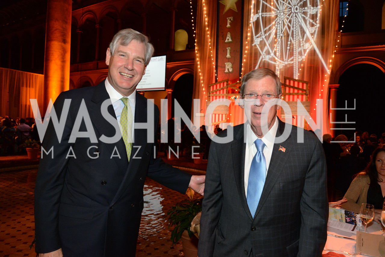 John Castellani (CEO of Pharma) and Senator Johnny Isakson (R-GA) March of Dimes Gourmet Gala, National Building Museum. May 7, 2014. Photo by Neshan H. Naltchayan