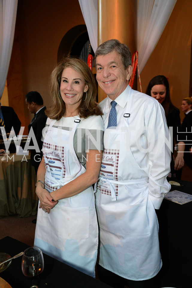 Abby Blunt and Senator Roy Blunt (R-MO) March of Dimes Gourmet Gala, National Building Museum. May 7, 2014 Photo by Neshan H. Naltchayan