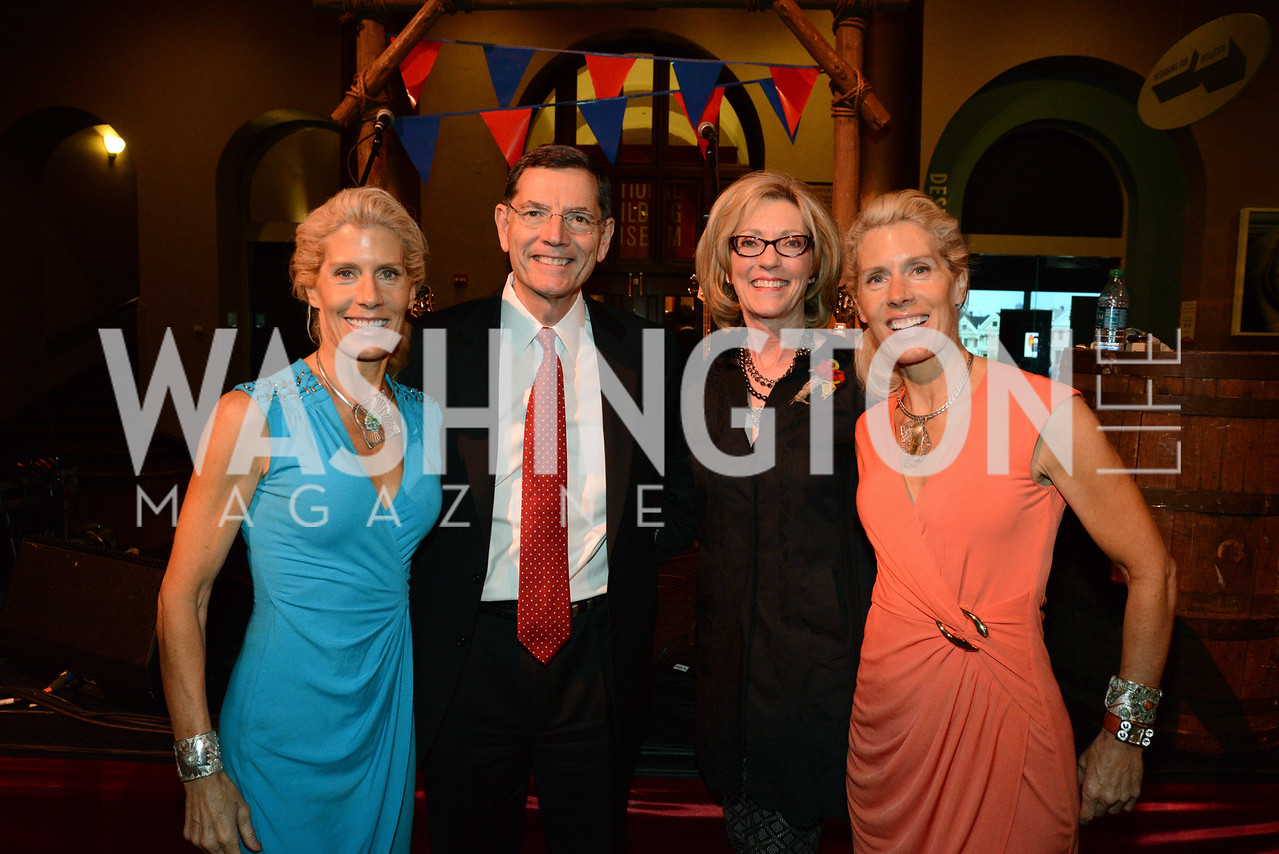Annie Smith, Senator John Barrasso (R-WY), Mrs. Bobbi Barrasso and Amy Smith.     March of Dimes Gourmet Gala, National Building Museum. May 7, 2014 Photo by Neshan H. Naltchayan