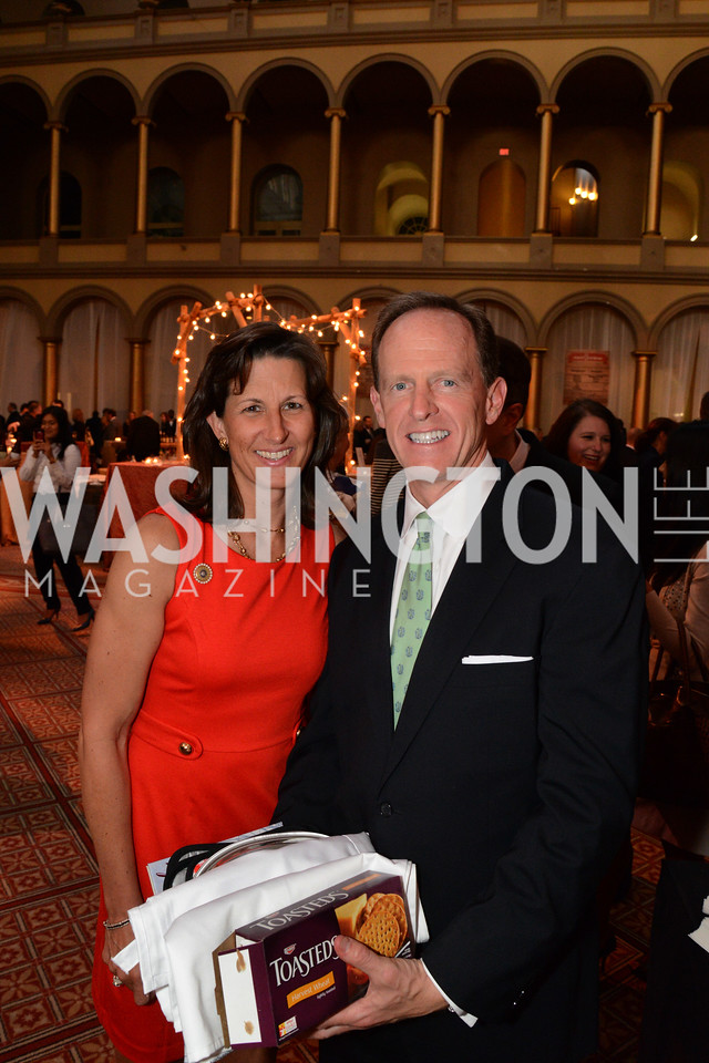 Kris Toomey and Senator Pat Toomey (R-PA) March of Dimes Gourmet Gala, National Building Museum. May 7, 2014 Photo by Neshan H. Naltchayan