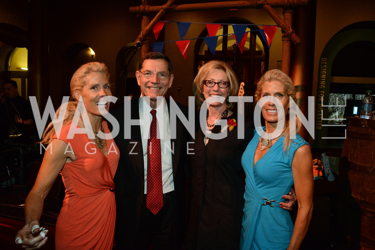 Amy Smith, Senator John Barrasso (R-WY), Mrs. Bobbi Barrasso and Annie Smith.        March of Dimes Gourmet Gala, National Building Museum. May 7, 2014 Photo by Neshan H. Naltchayan