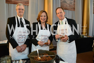 Bruce Fischer, Senator Deb Fischer (R-Neb.) and Senator Pat Toomey (R-PA).       March of Dimes Gourmet Gala, National Building Museum. May 7, 2014 Photo by Neshan H. Naltchayan