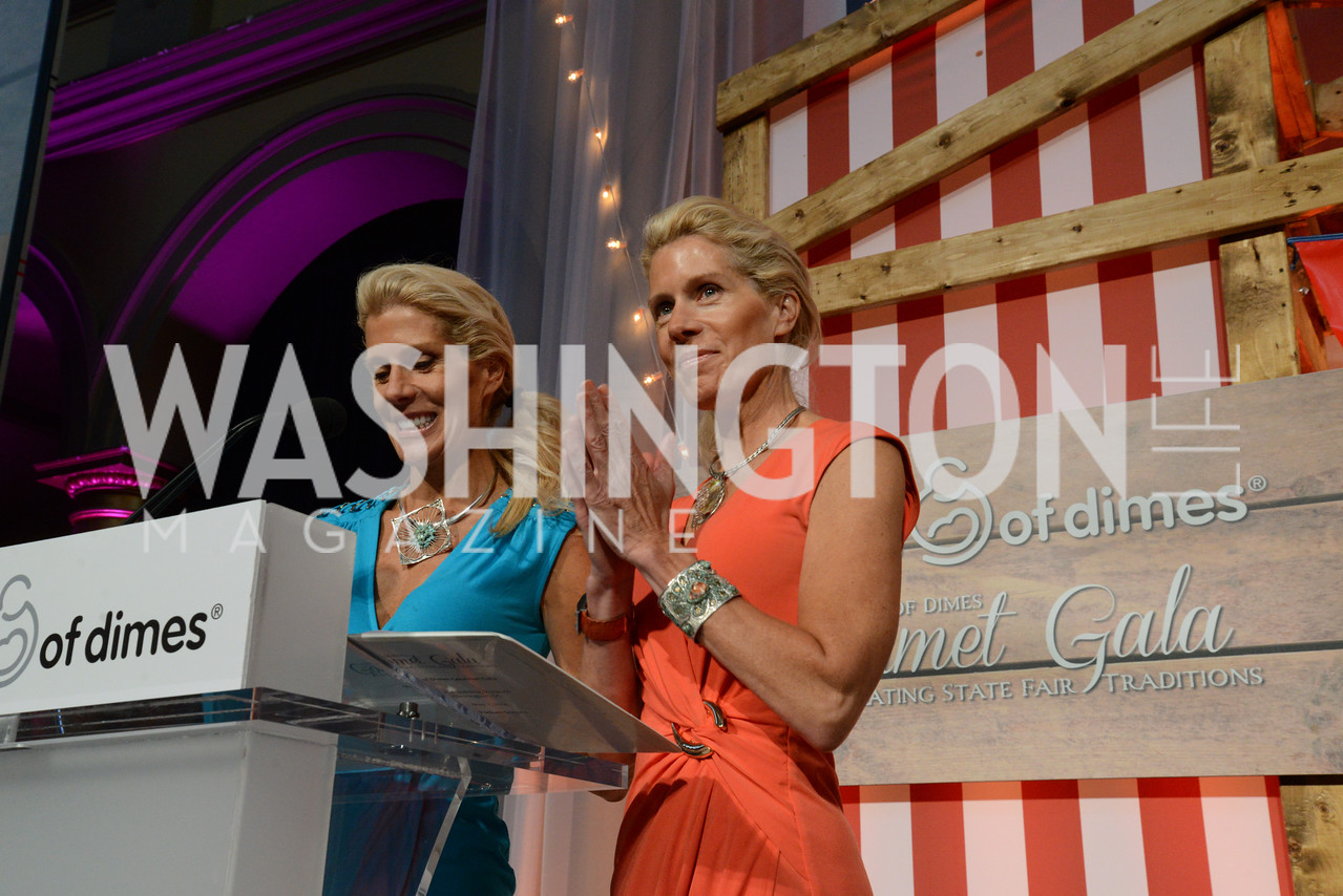 Annie and Amy Smith. (TV hosts and Entertainers) March of Dimes Gourmet Gala, National Building Museum. May 7, 2014 Photo by Neshan H. Naltchayan