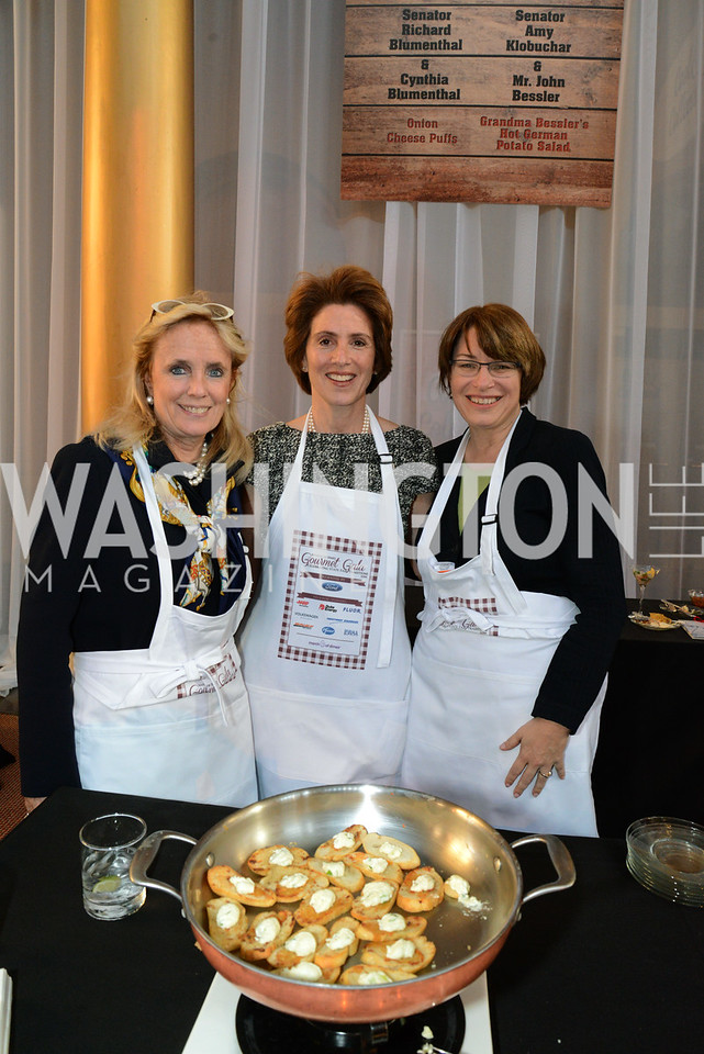 Debbie Dingell, Cynthia Blumenthal and Senator Amy Klobuchar (D-MN).    March of Dimes Gourmet Gala, National Building Museum. May 7, 2014 Photo by Neshan H. Naltchayan