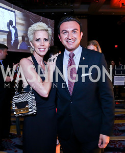 Michelle Schoenfeld, Michael Woestehoff. Photo by Tony Powell. Marriott Marquis Grand Opening. June 10, 2014