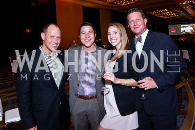 Jeff Trapani, Aaron Leong, Ellen Foody, Ross MacNett. Photo by Tony Powell. Marriott Marquis Grand Opening. June 10, 2014