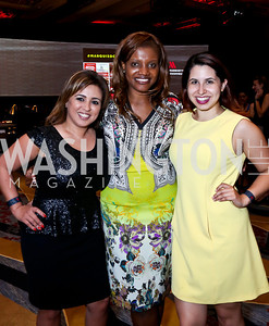 Gina Dakouni, Aba Kwawu, Ashley Arias. Photo by Tony Powell. Marriott Marquis Grand Opening. June 10, 2014