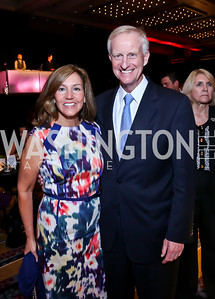Michele Seiver and Jack Evans. Photo by Tony Powell. Marriott Marquis Grand Opening. June 10, 2014