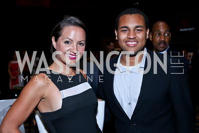 Fran Holuba, Joel Cas. Photo by Tony Powell. Marriott Marquis Grand Opening. June 10, 2014